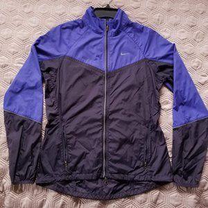 Women's Nike purple and gray wind breaker jacket